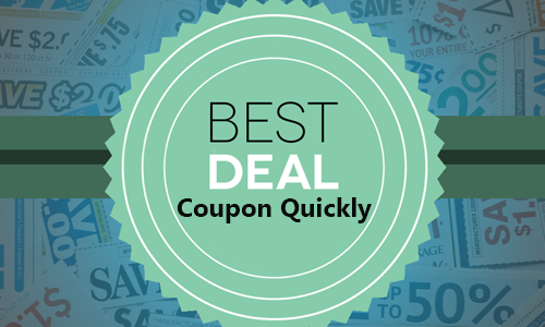 best deal at coupon quickly