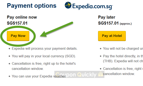 enter expedia voucher code