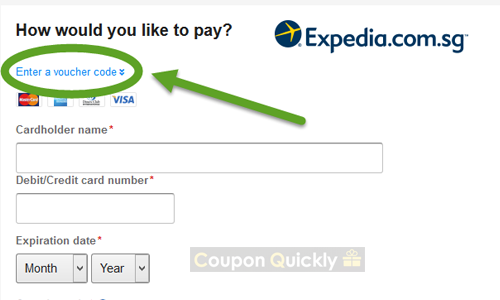 enter expedia voucher code here