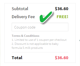 redmart free delivery