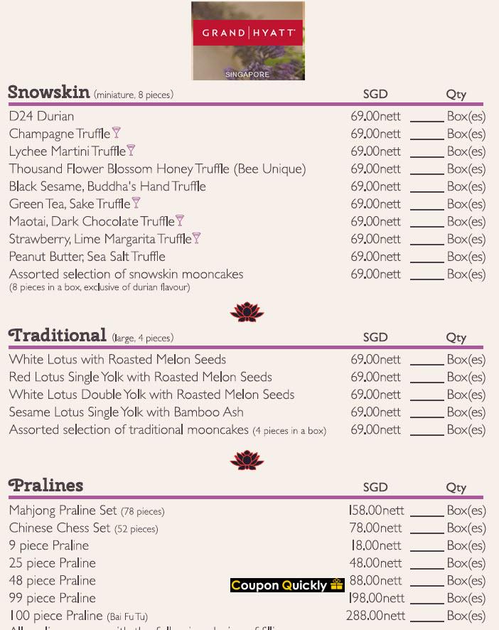 grand hyatt price list