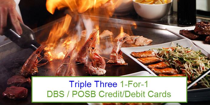 triple 3 restaurant 1 for 1